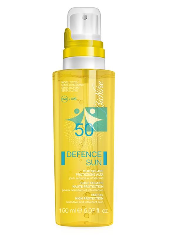 BioNike Linea Defence Sun SPF50 Olio Spray Sole Corpo Pelli Sensibili 150 ml