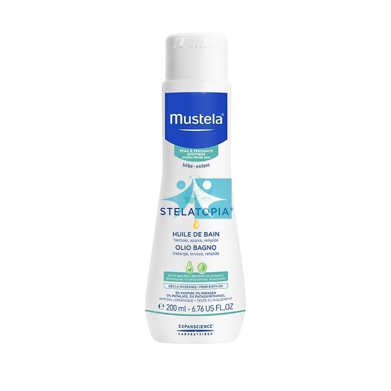Mustela Linea Stelatopia Atopia Olio Bagno Detergente Delicato Viso Corpo 200 ml
